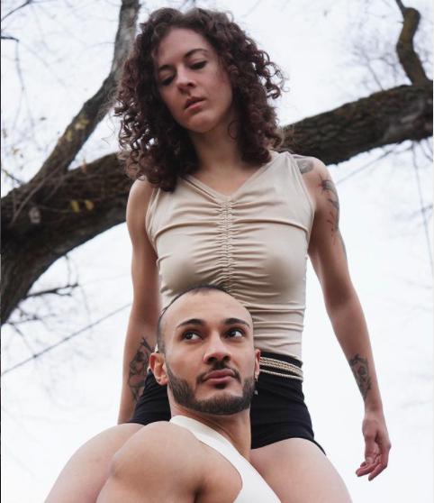image of Kayla on Abadi's shoulder